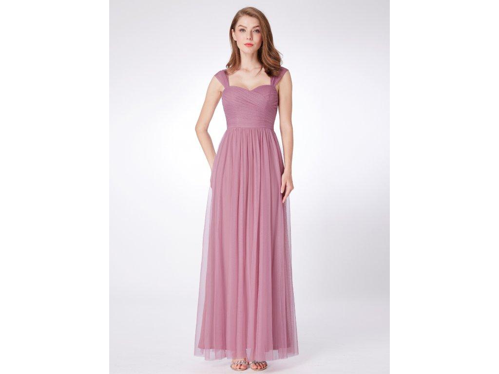 Luxusní dlouhé starorůžové šaty 7304 - trendy-obleceni.cz 12f982d6b7