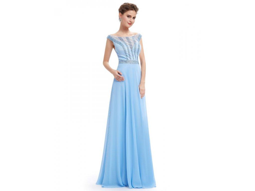Ever Pretty plesové šaty světle modré 8736 - trendy-obleceni.cz fd24404e6d