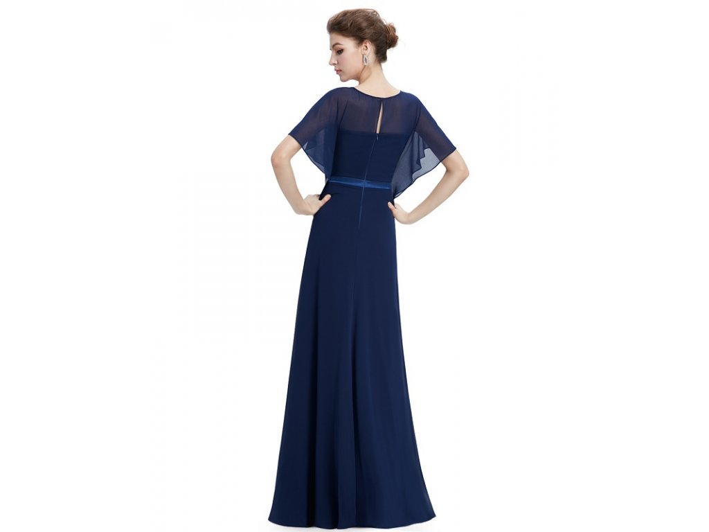 04d1eb101342 Ever Pretty plesové šaty tmavě modrá 8775 - trendy-obleceni.cz
