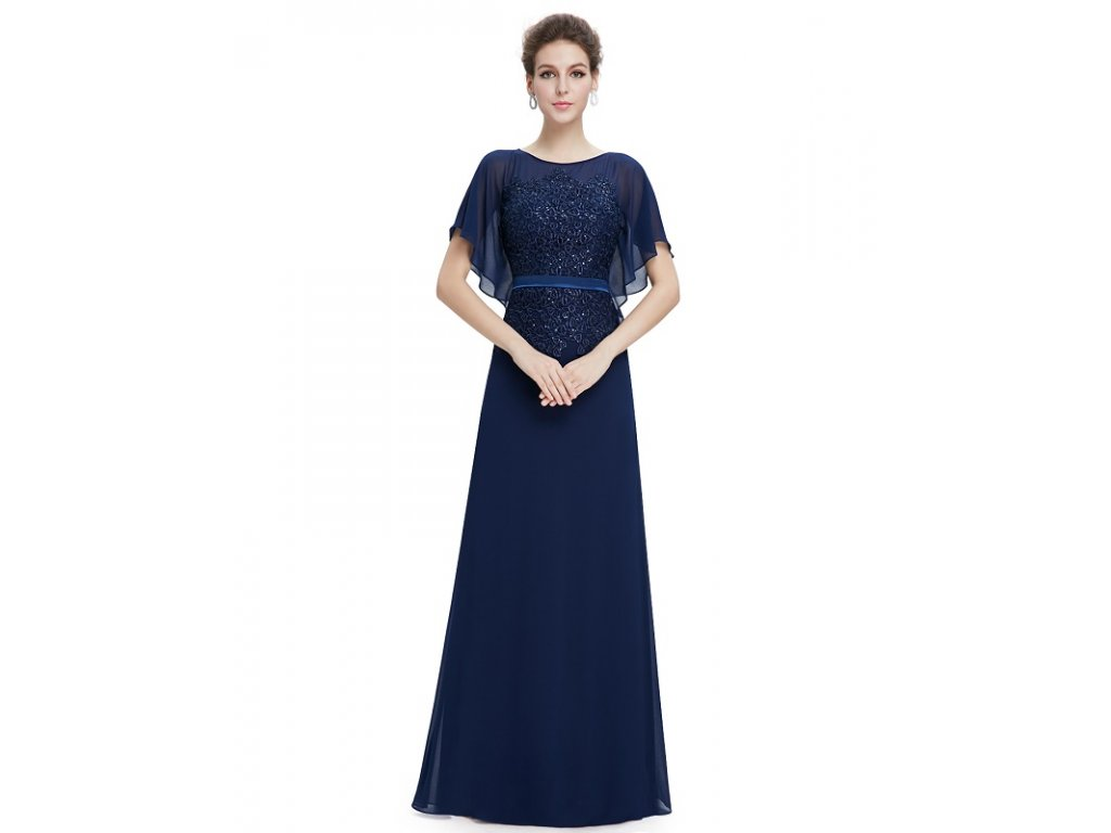 Ever Pretty plesové šaty tmavě modrá 8775