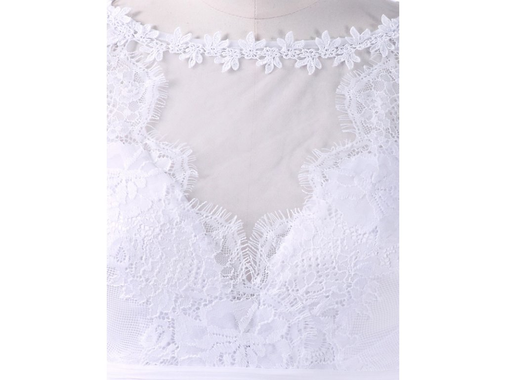 Ever Pretty jemné svatební šaty bílé 8715 - trendy-obleceni.cz aa03f627b3