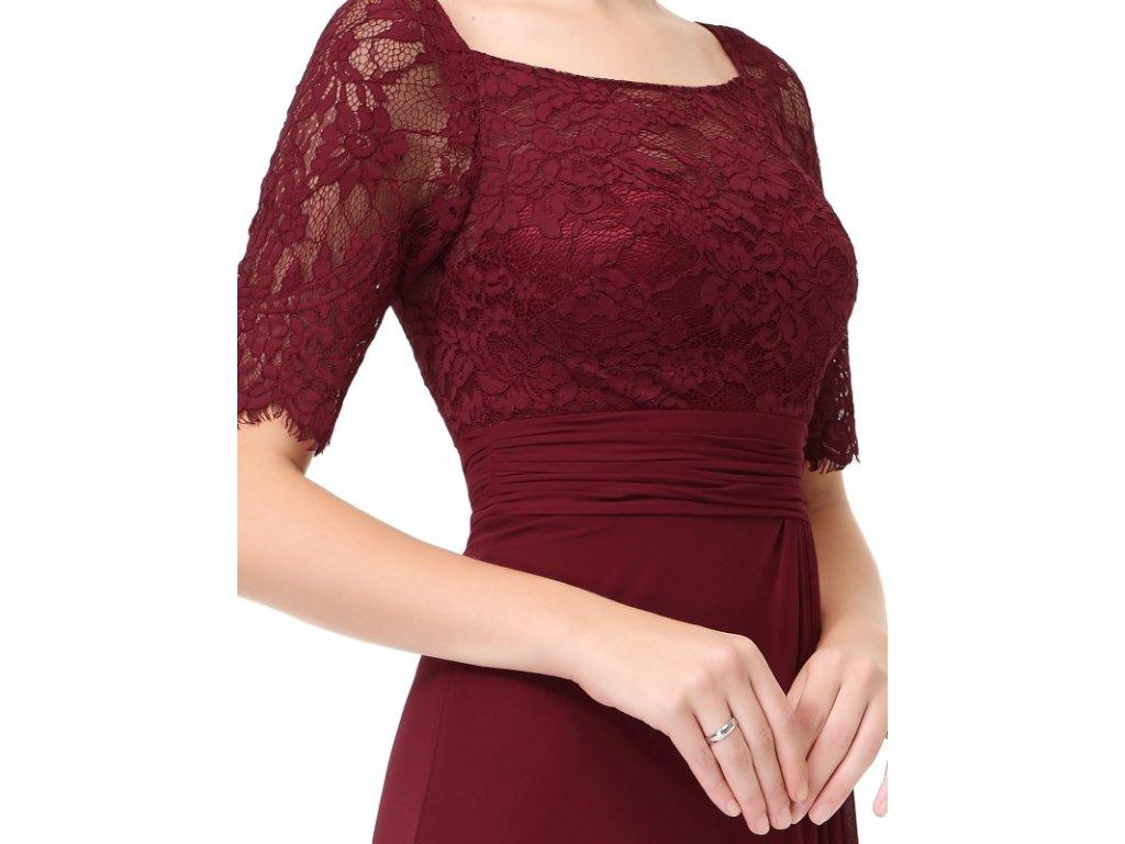Elegantní Ever Pretty plesové šaty bordo 8793 - trendy-obleceni.cz ec46e6e813