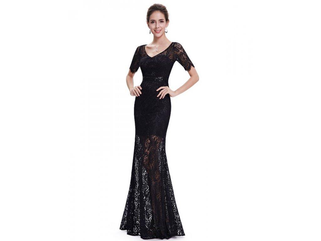 Krajkované šaty Ever Pretty plesové černé 8670