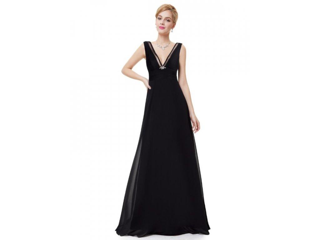Dámské elegantní Ever Pretty plesové šaty černé 8050