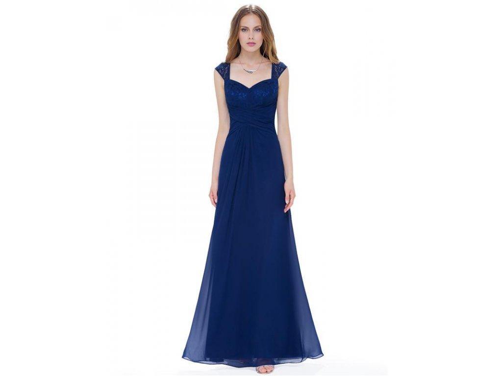 Plesové šaty společenské modré 8935