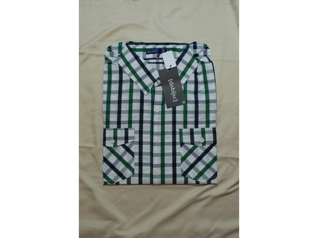 Pánská košile kostkovaná zelená 2524 - trendy-obleceni.cz 2220108eee