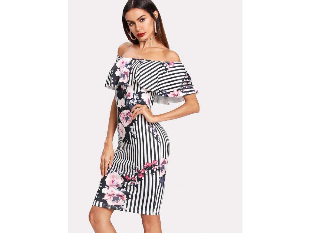 A Sexy krátké letní šaty s květy 6717 - trendy-obleceni.cz cdbe040a78