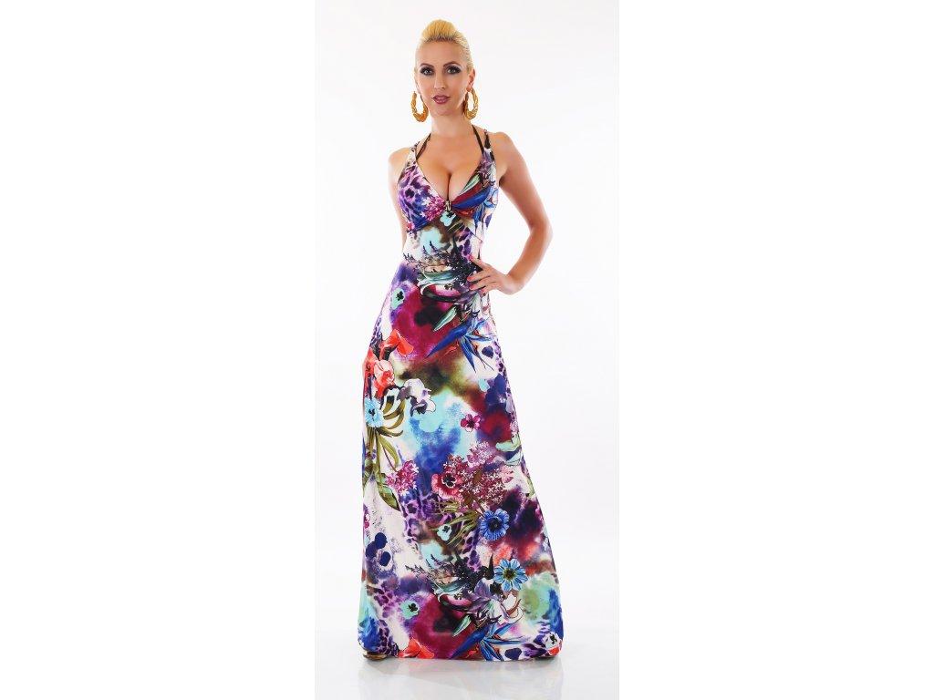 Letní dlouhé šaty květinové ST125 - trendy-obleceni.cz 1b3d456655a