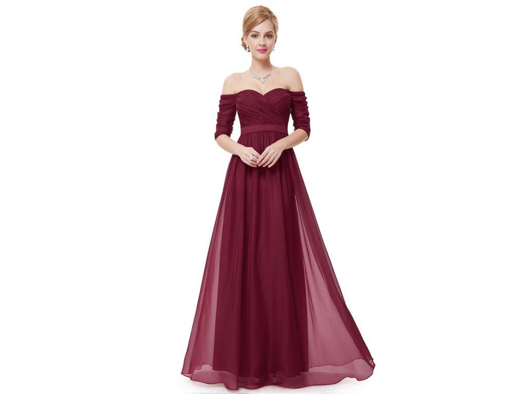 Ever Pretty plesové šaty bordo 8411