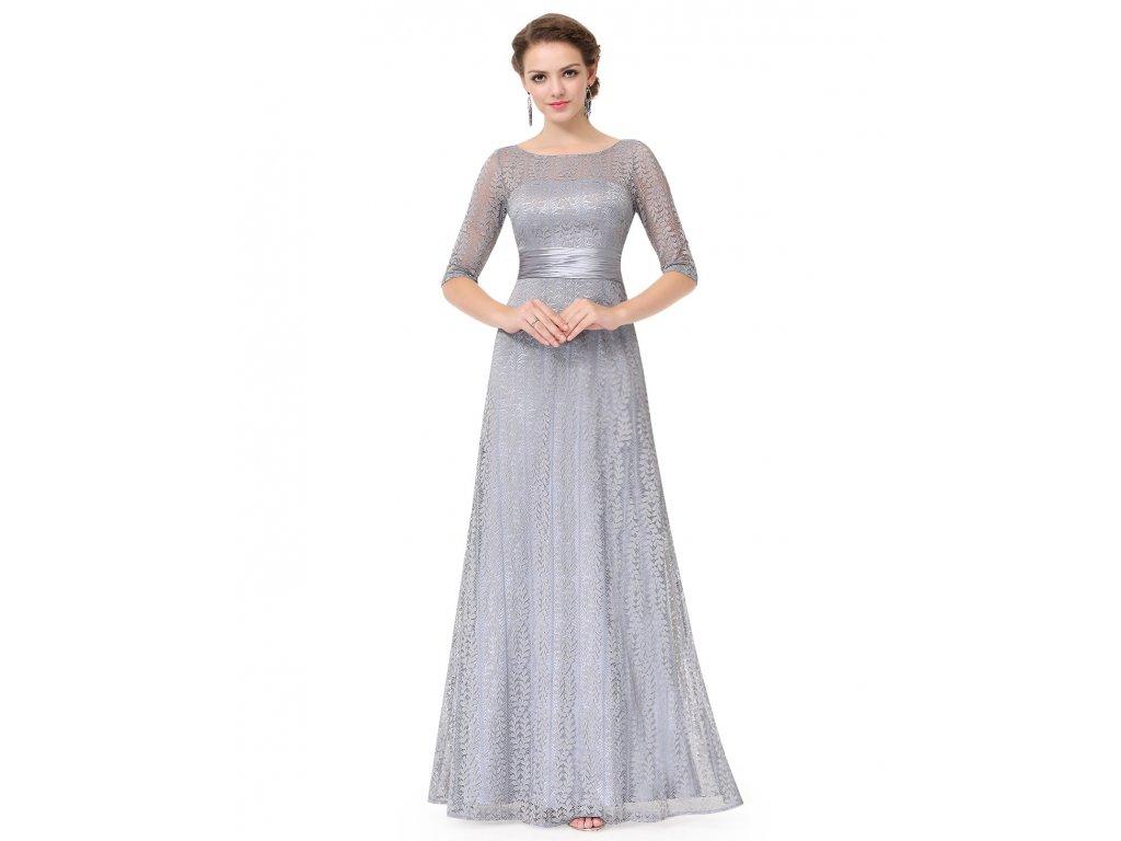 Šedé šaty Ever Pretty plesové šaty dlouhé 8878