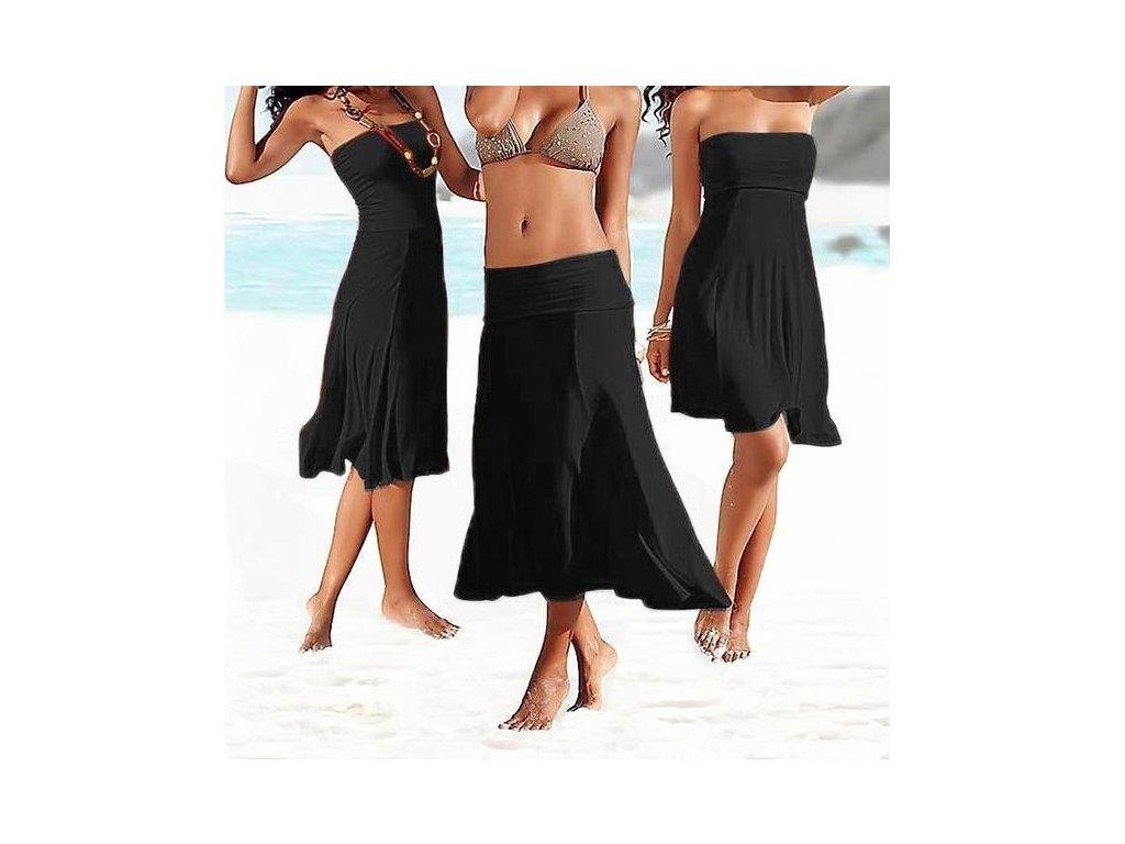 A Letní šaty 4v1 nebo sukně, černá barva