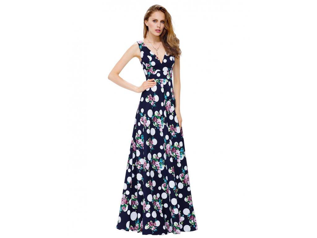59150639099 Ever Pretty dlouhé letní šaty s puntíky 8955 - trendy-obleceni.cz