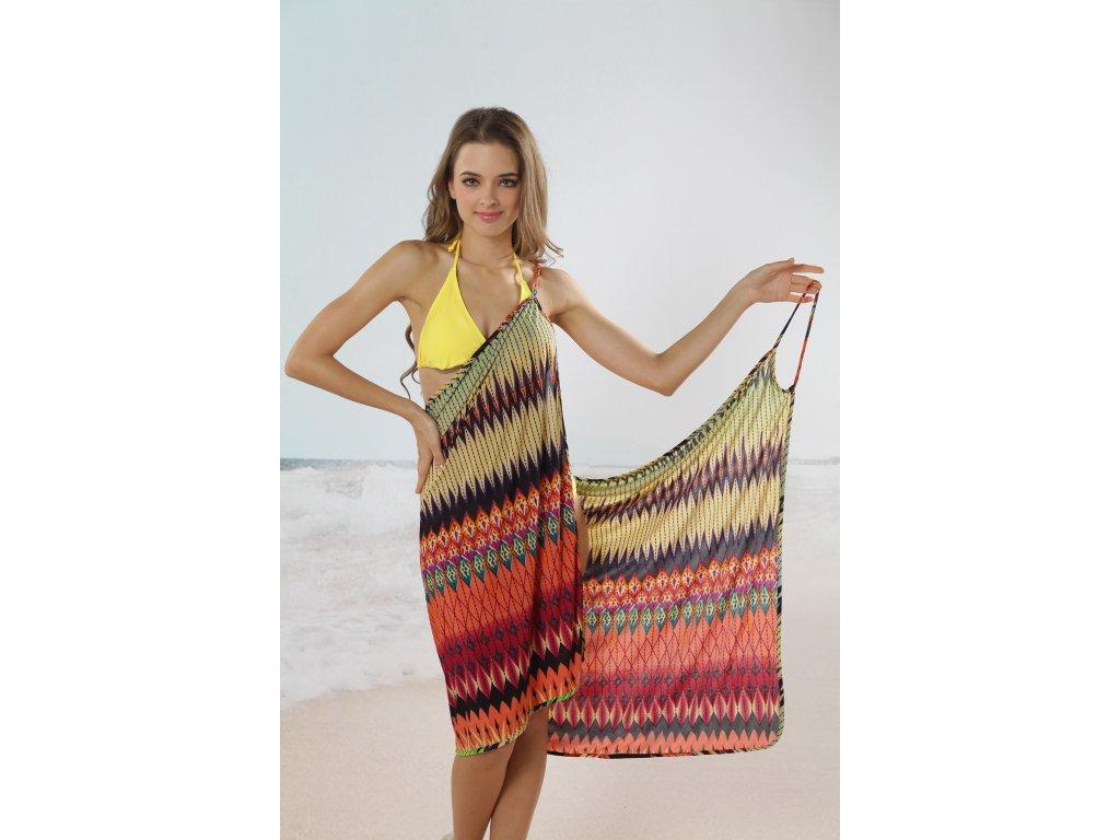 A Plážové zavinovací šaty vzorované - trendy-obleceni.cz 6fc2b464b1
