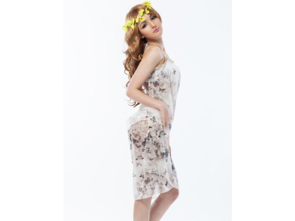 A Plážové zavinovací šaty šedé s motýli - trendy-obleceni.cz 4e982fe167