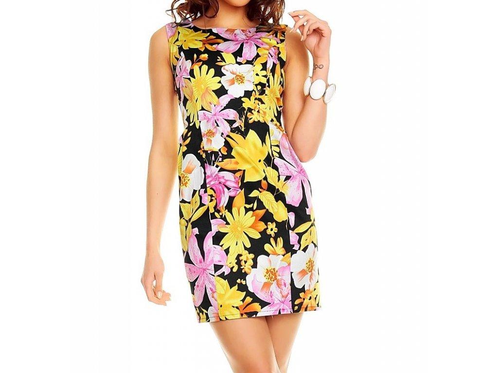 Mayaadi Letní šaty vzorované květované HS350