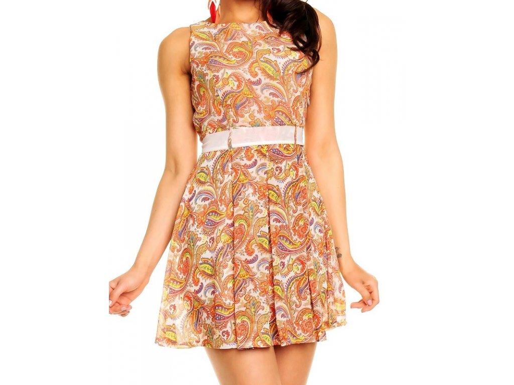 A Šifonové šaty nevšední design trendy s páskem