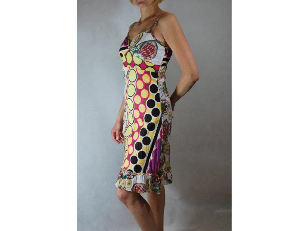 Letní šaty bavlna patchwork, multivzorované-do 1-3 dní-M
