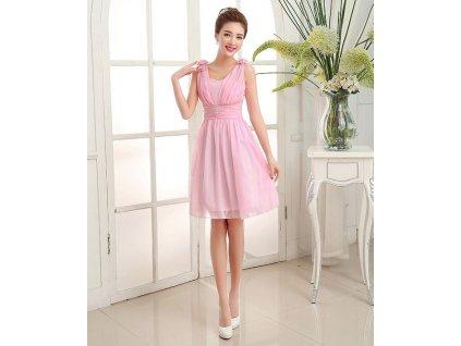 5f4e1e8a851 A Krátké růžové společenské šaty 17121