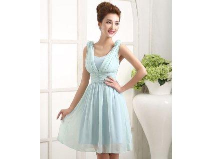 7306b2b51ad A Krátké modré společenské šaty 17121