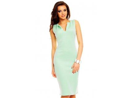 pouzdrové mentolové šaty (Custom)