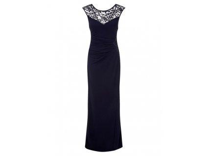 1a31ceca6d6 A Dlouhé modré elegantní šaty 80204