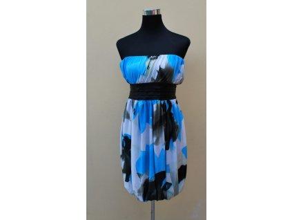 A Letní šaty modré , balonová sukně