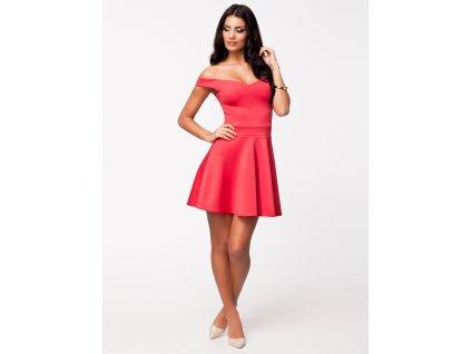 824c0fc20a2 A Jednoduché růžové šaty krátké 8866