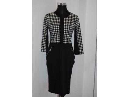 A Elegantní černé šaty s kostkou 789
