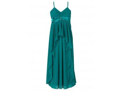 A Společenské dlouhé šaty zelené 9452