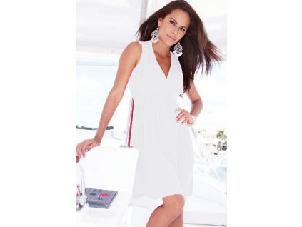 A Šaty letní plážové,elegantní, ivory jednobarevné LM3910