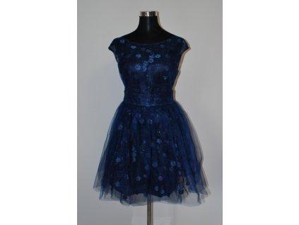 Dámské krátké modré šaty Eva & Lola Diana 2088