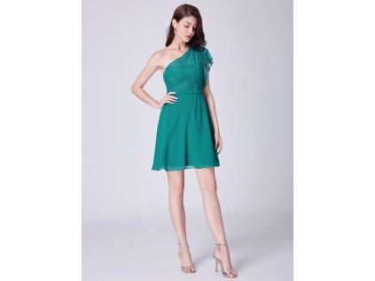 0de161b013a Krátké dámské zelené šaty s krajkou 3001