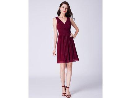 Ever Pretty letní šaty krátké bordo 3025 6ae9ae3d2f