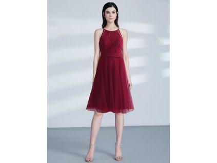 Ever Pretty krátké bordo šaty s krajkou 3042 9dcc9dfb28