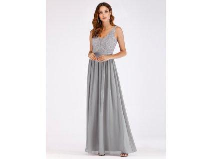 40ab1912add Dlouhé šedé šaty Ever Pretty 7516