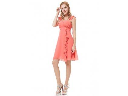 Ever Pretty šaty do tanečních, plesové lososové 3337