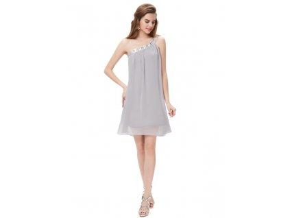 Ever Pretty šifonové šaty krátké šedé 3388 14a2002bc1