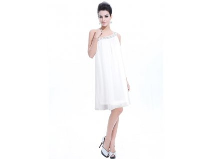 Ever Pretty šifonové šaty krátké bílé 3388 99c278a205