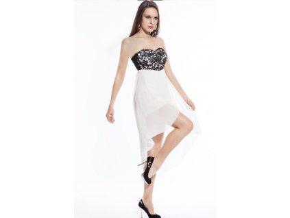 Plesové šaty bílé s výšivkou
