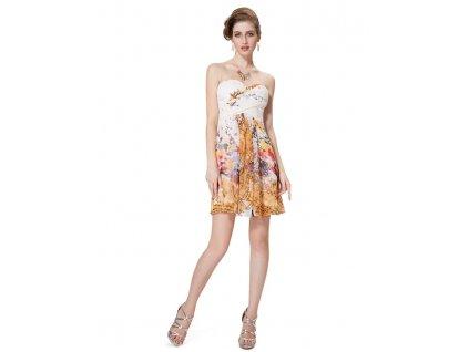 Ever Pretty šaty bílé s květy krátké 5057 c7432618df