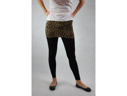 Legíny se sukní černé vzor gepard