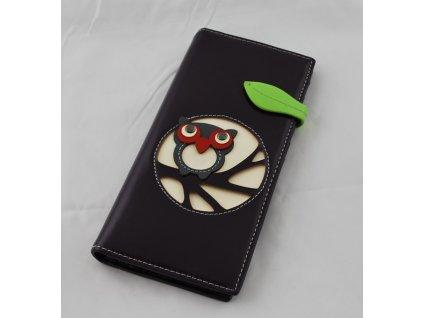 A Dámská peněženka fialová se sovou