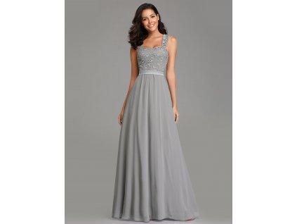f92a9c078e4 Dámské luxusní šedé šaty Ever Pretty 7704