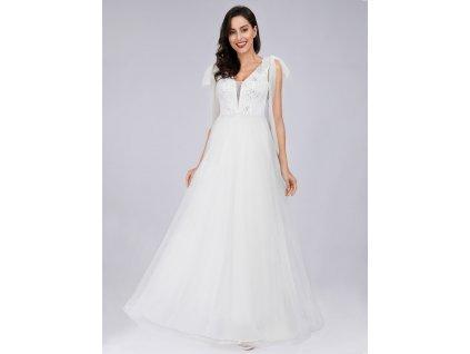 dfd669766d1c EB07836WH L1. Novinka. Bílé šaty ...