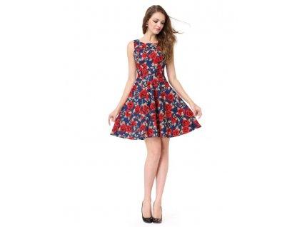 aeaee549fae Ever Pretty letní šaty modré květované 5488