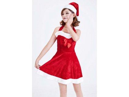 Sexy santa kostým s čepicí