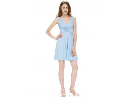 Ever Pretty letní šaty modré splývavé 5294
