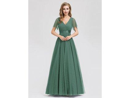 Plesové tylové šaty zelené