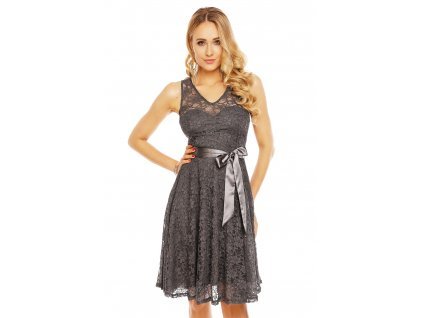 dress mayaadi hs 390 dark grey l