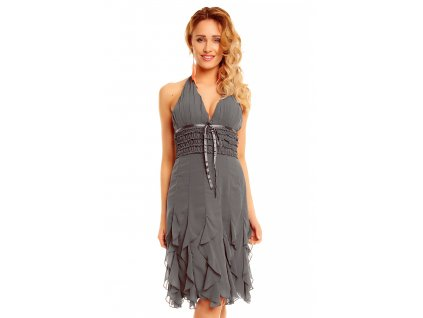 dress mayaadi hs 310a grey l
